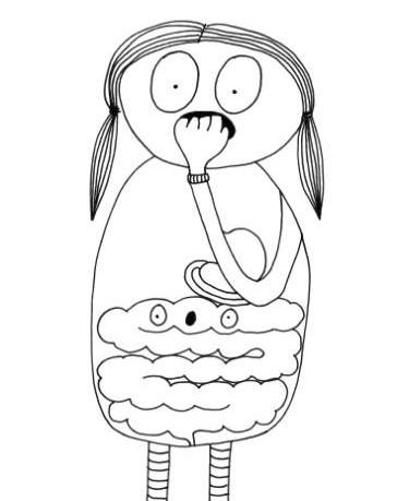 Ilustración de Jill Enders del interior del libro