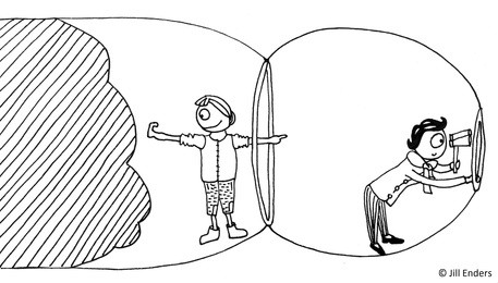 Ilustración del libro que representa los dos